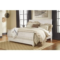 Willowton - Whitewash - King Sleigh Footboard