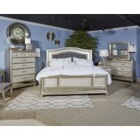 Coralayne - Silver - Queen UPH Panel Headboard