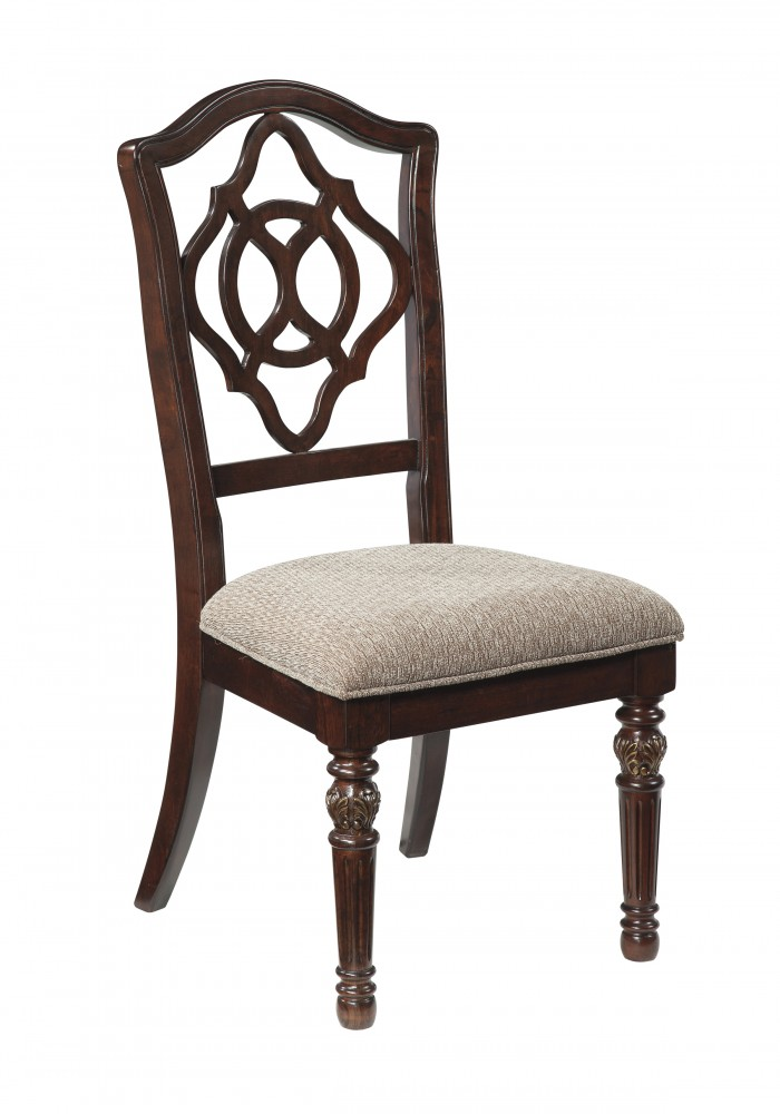 Leahlyn - Reddish Brown - Dining UPH Side Chair (2/CN)