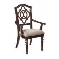 Leahlyn - Reddish Brown - Dining UPH Arm Chair (2/CN)