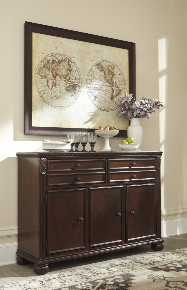 Leahlyn   Reddish Brown   Dining Room Buffet