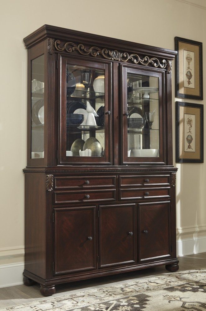 Leahlyn - Reddish Brown - Dining Room Hutch