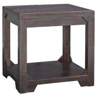 Rogness - Rustic Brown - Rectangular End Table