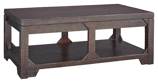 Rogness - Rustic Brown - Lift Top Cocktail Table