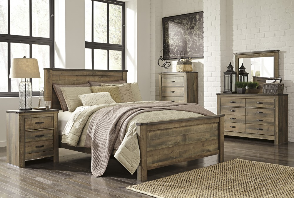 Trinell 5 Pc. Bedroom - Dresser, Mirror & Queen Panel Bed | B446/21 ...
