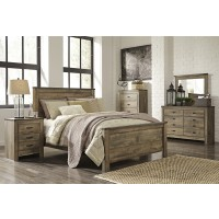 Trinell 5 Pc. Bedroom - Dresser, Mirror & King Panel Bed