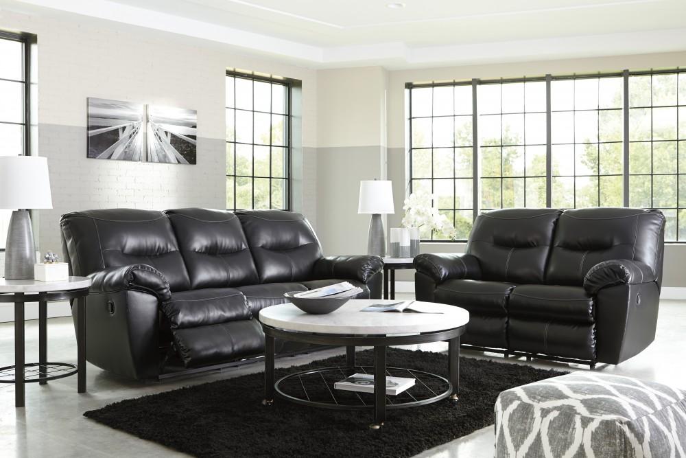 Kilzer Durablend Black Reclining Sofa Loveseat 84701 88 86
