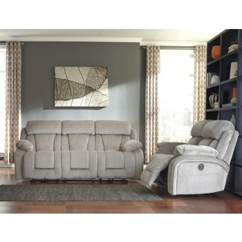 Stricklin - Pebble - Reclining Sofa & Loveseat