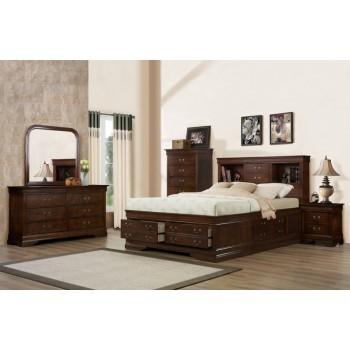 329 Renaissance Brown/Cherry Storage Bedroom Collection