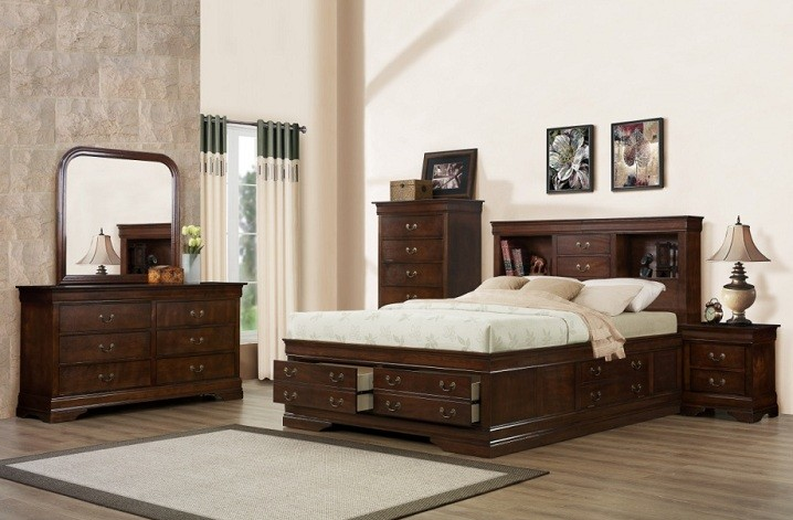 329 Renaissance Brown/Cherry Storage Bedroom Collection