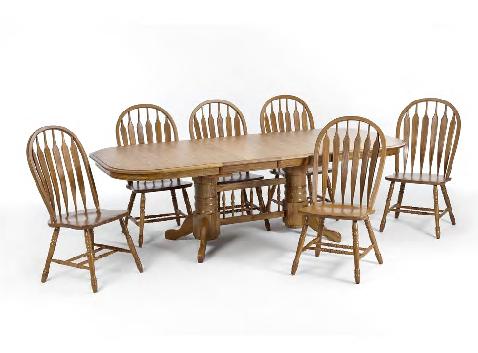 Threshers Oak Dining Table Large: 42x60x96