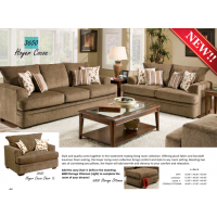 3650 Sofa, Loveseat, Chair & 1/2, & Ottoman Carnell Cocoa Hoyer Cocoa Collection