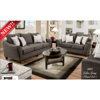 3853 Sofa, Loveseat & Chair & 1/2 Flannel Seal Celica Collection