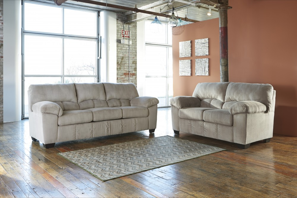 Dailey Alloy Sofa Loveseat 954013835 Living Room Groups