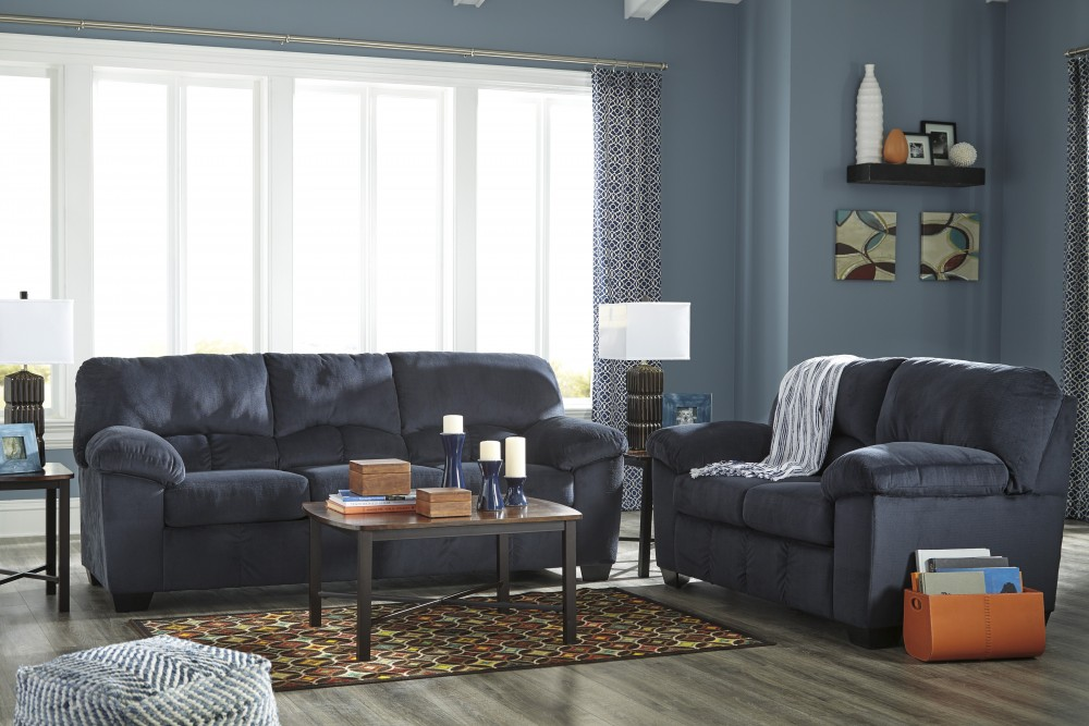 Dailey Midnight Sofa Loveseat 954023835 Living Room