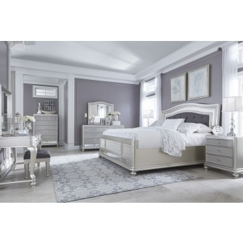Coralayne 5 Pc. Bedroom - Dresser, Mirror & Queen UPH Panel Bed