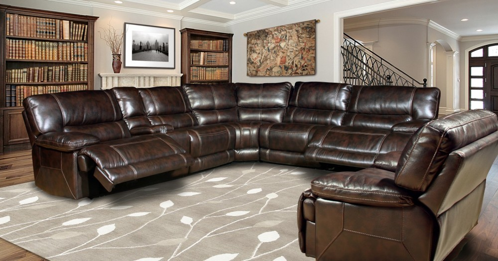 Intrigue Faux  Leather Reclining Sectional