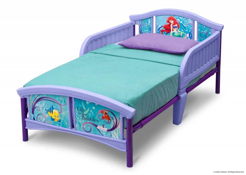 Little Mermaid Plastic Toddler Bed Bb86657lm 1087 Beds
