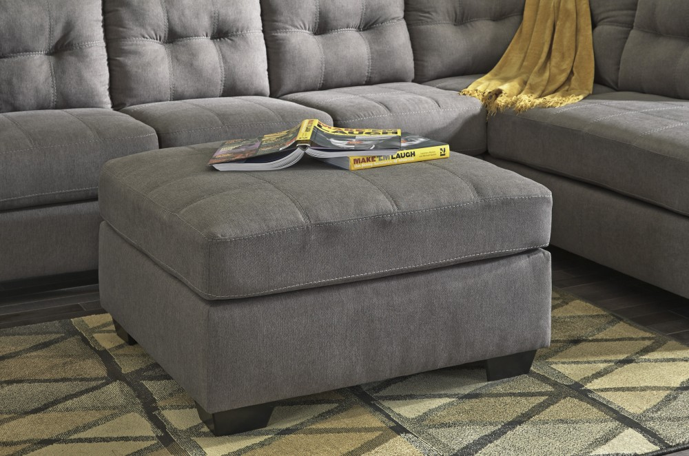 Maier - Charcoal - Oversized Accent Ottoman