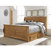 Bittersweet King Sleigh Bed with Storage