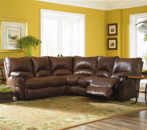 Alpine Double Leather Reclining Sectional