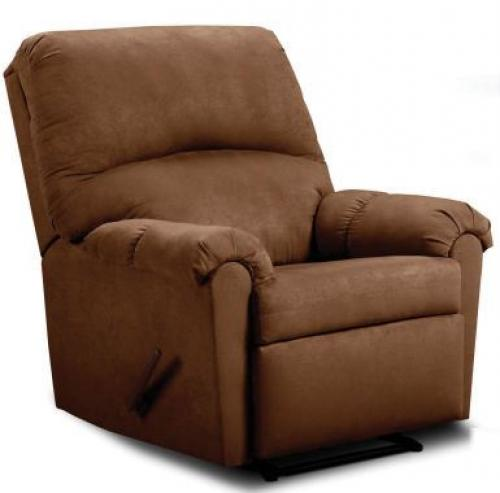 Albany Microfiber Recliner in Chocolate Suede