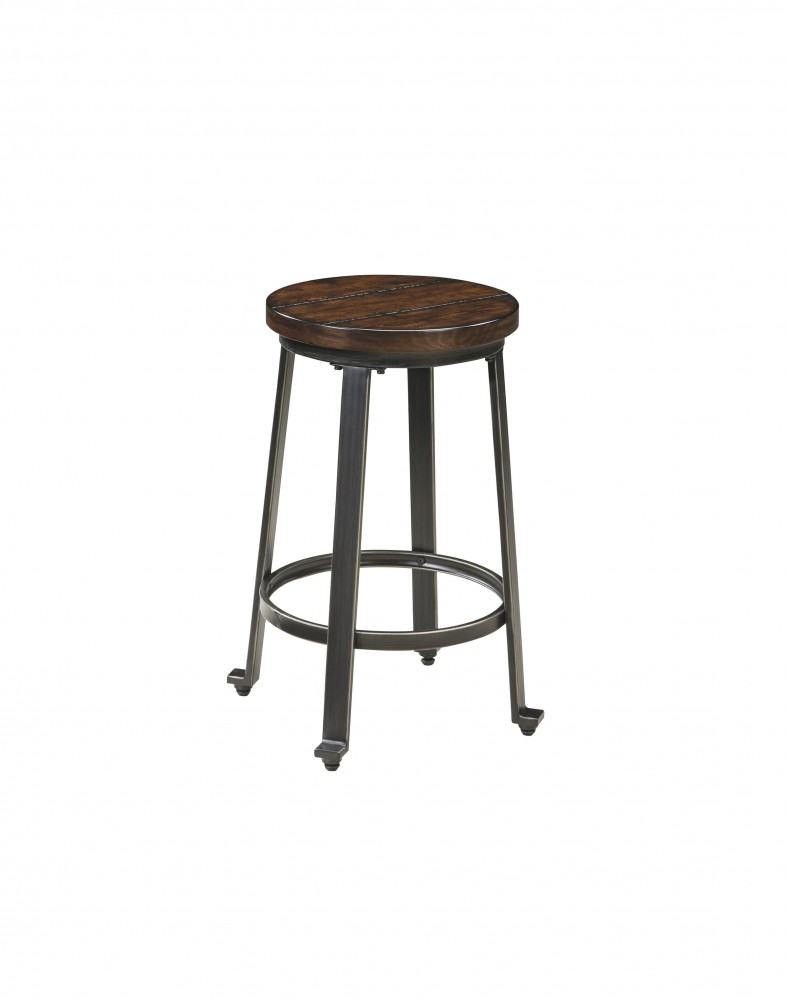 Challiman - Rustic Brown - Stool (2/CN)