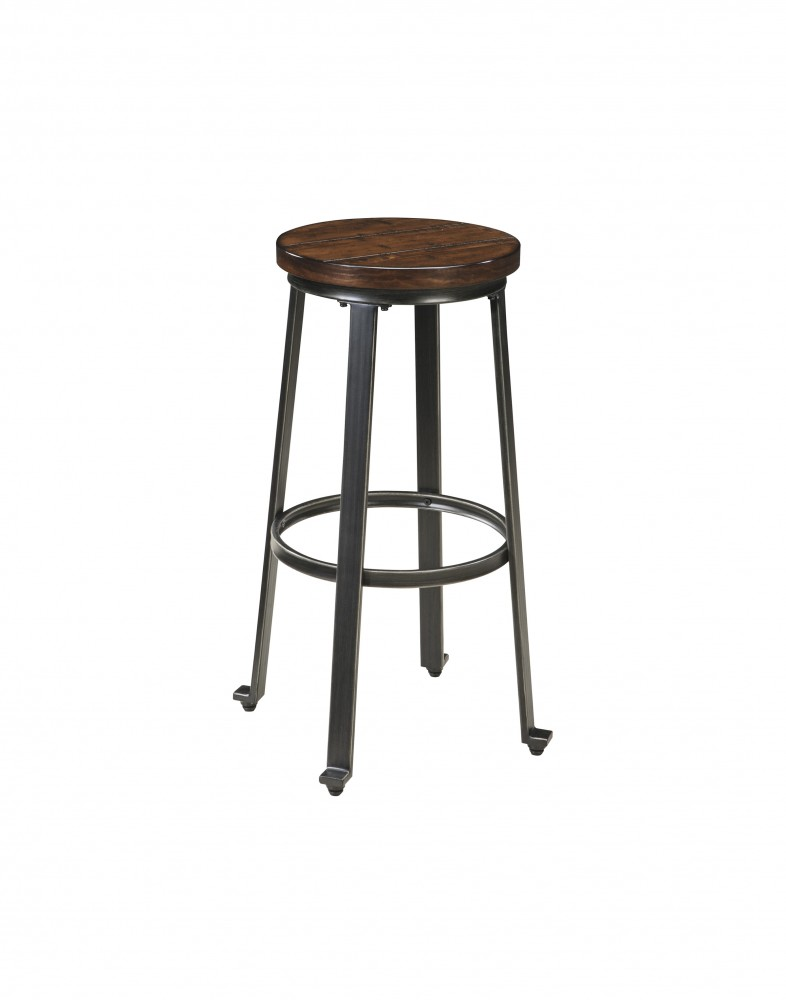 Challiman - Rustic Brown - Tall Stool (2/CN)