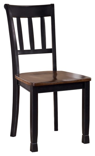 Owingsville - Black/Brown - Dining Room Side Chair (2/CN)