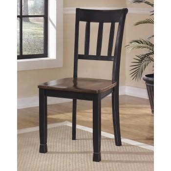 Owingsville - Black/Brown - Dining Room Side Chair (2/CN)