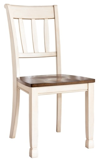 Whitesburg - Brown/Cottage White - Dining Room Side Chair (2/CN)