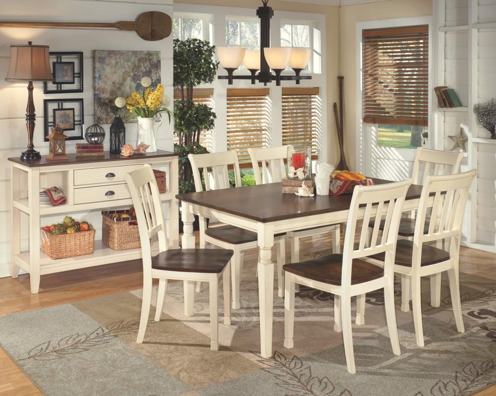 Prime Whitesburg Brown Cottage White Dining Room Side Chair 2 Cn Machost Co Dining Chair Design Ideas Machostcouk