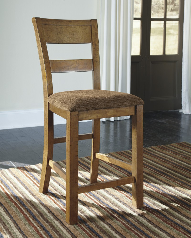 Krinden - Light Brown - Upholstered Barstool (2/CN)