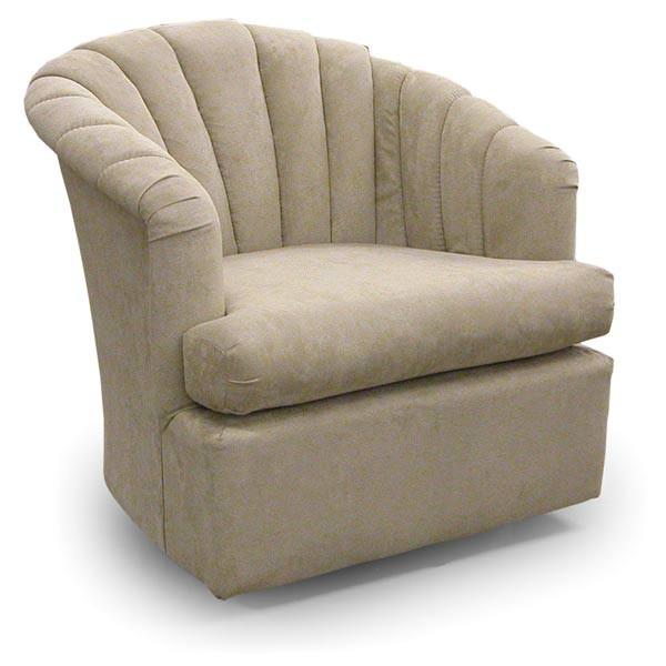 BEST HOME FURNISHINGS ELAINE Swivel Barrel Chair