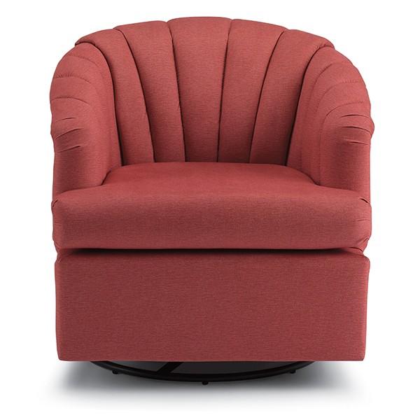 Best Home Furnishings Elaine Swivel Barrel Chair Elaine