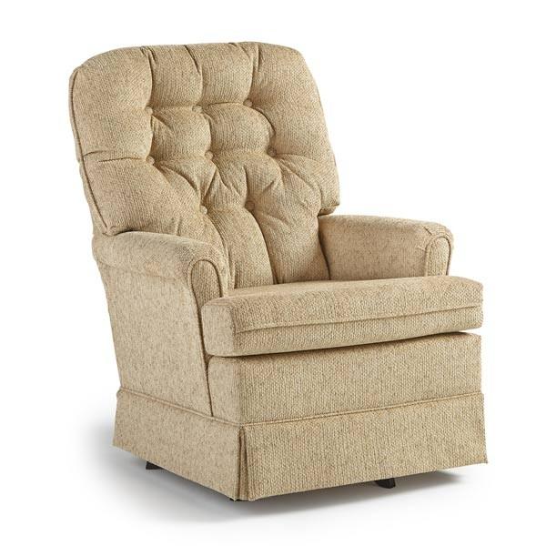 BEST HOME FURNISHINGS JOPLIN1 Swivel Glide Chair