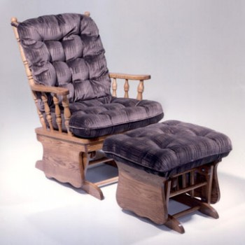 HOLLAND HOUSE FURNITURE Two Post Solid Oak Glider