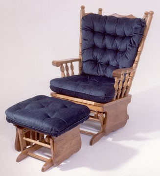 HOLLAND HOUSE FURNITURE 4 Post Solid Oak Glider