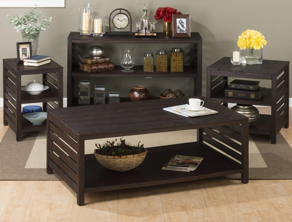 Rich roast chairside table tables pruitt 39 s fine furniture for Pruitts bedroom sets