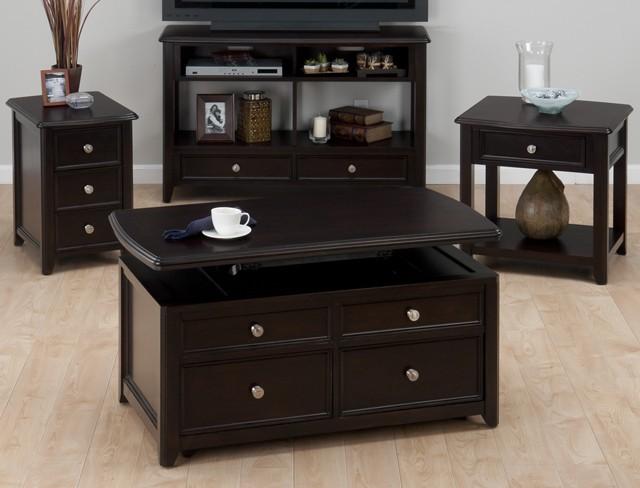 Corranado Espresso Sofa/media Table