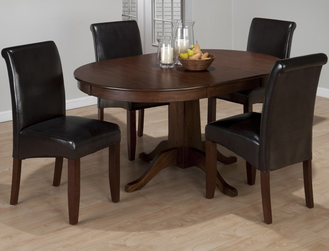 Richmond Cherry Round To Oval Dining Table Base Tables Pruitts - Oval cherry wood dining table