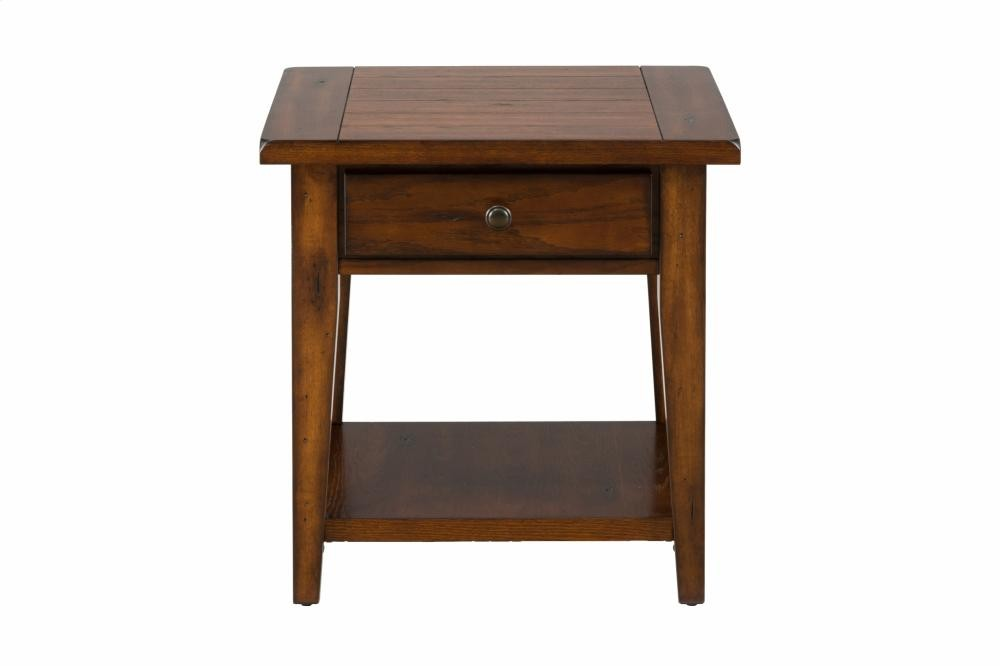 Clay County Oak End Table 4433 Tables Plourde Furniture Company