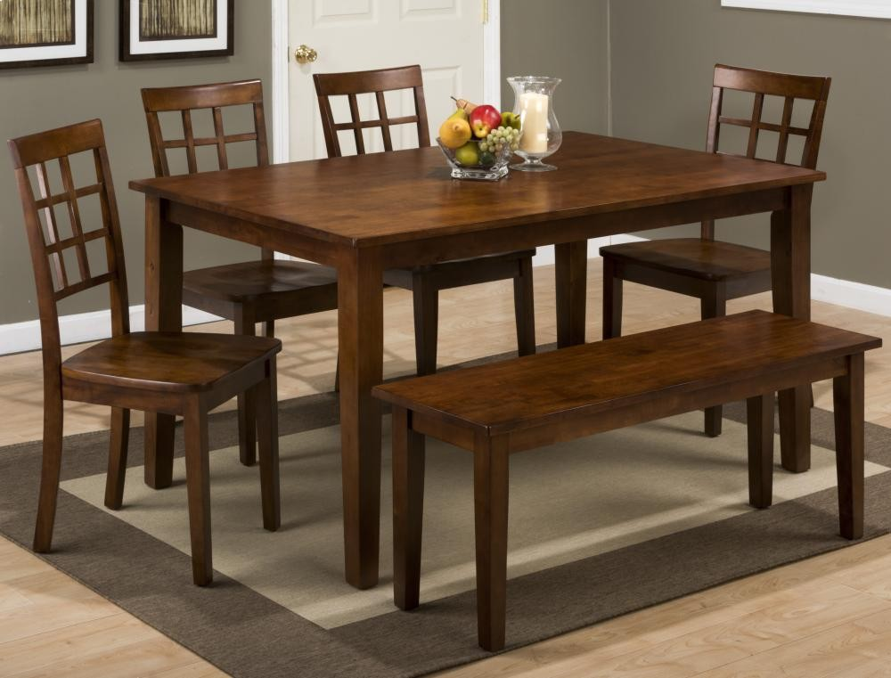 Rich Caramel Finish Classic Bedroom Set W Options: Simplicity Caramel Rectangle Dining Table