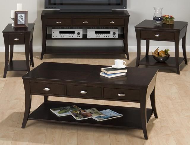 Manhattan Espresso Sofa/media Table