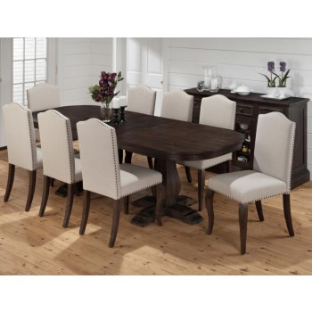 Amazing Grand Terrace Oval Dining Table Double Pedestal Base ly Elegant - Cool dining table pedestal base only Contemporary