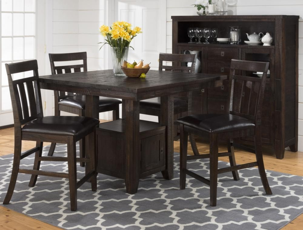 Review Kona Grove Counter Height Table With Storage Base Luxury - Simple counter height dining table New Design