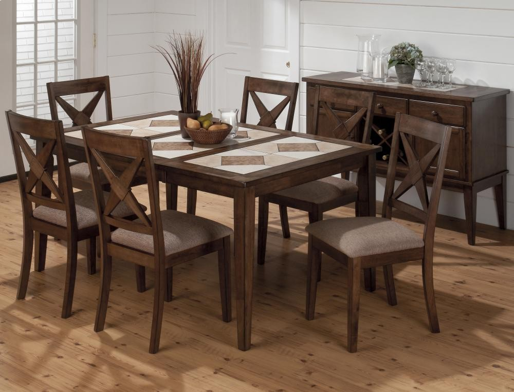 Tuscon Dining Table With Tri Color Tile Top 79464 Tables