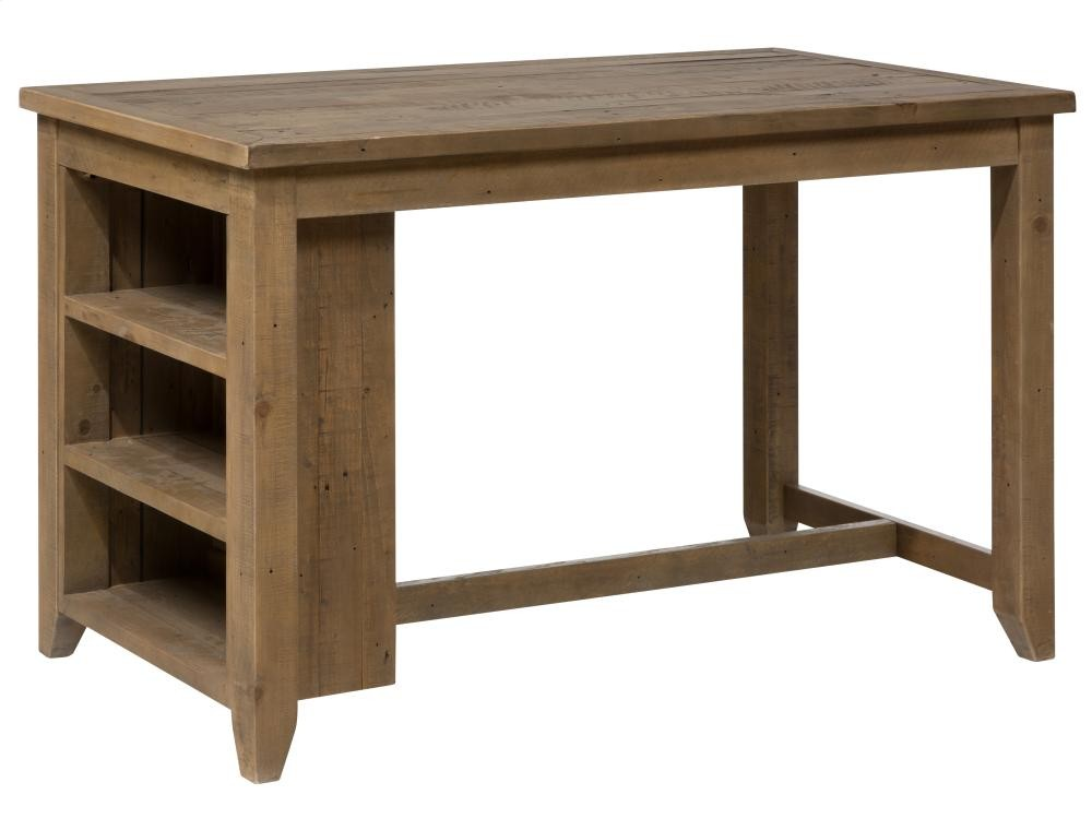 Slater Mill Reclaimed Pine Counter Height Table With 3