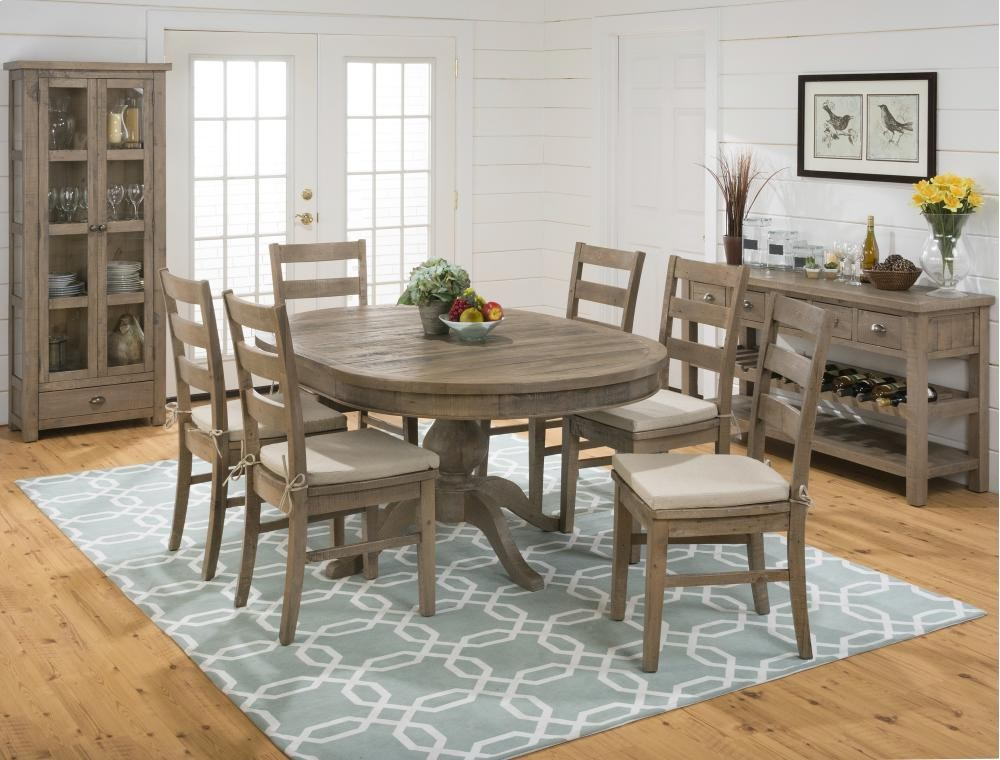 Slater Mill Round To Oval Dining Table- Top Only