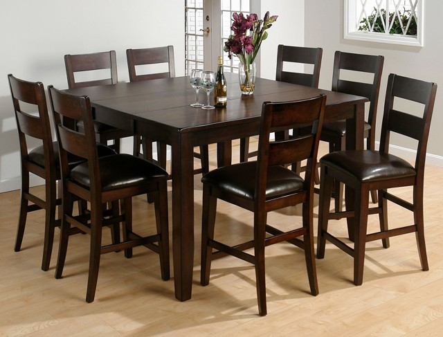 Etonnant Dark Rustic Prairie Counter Height Table